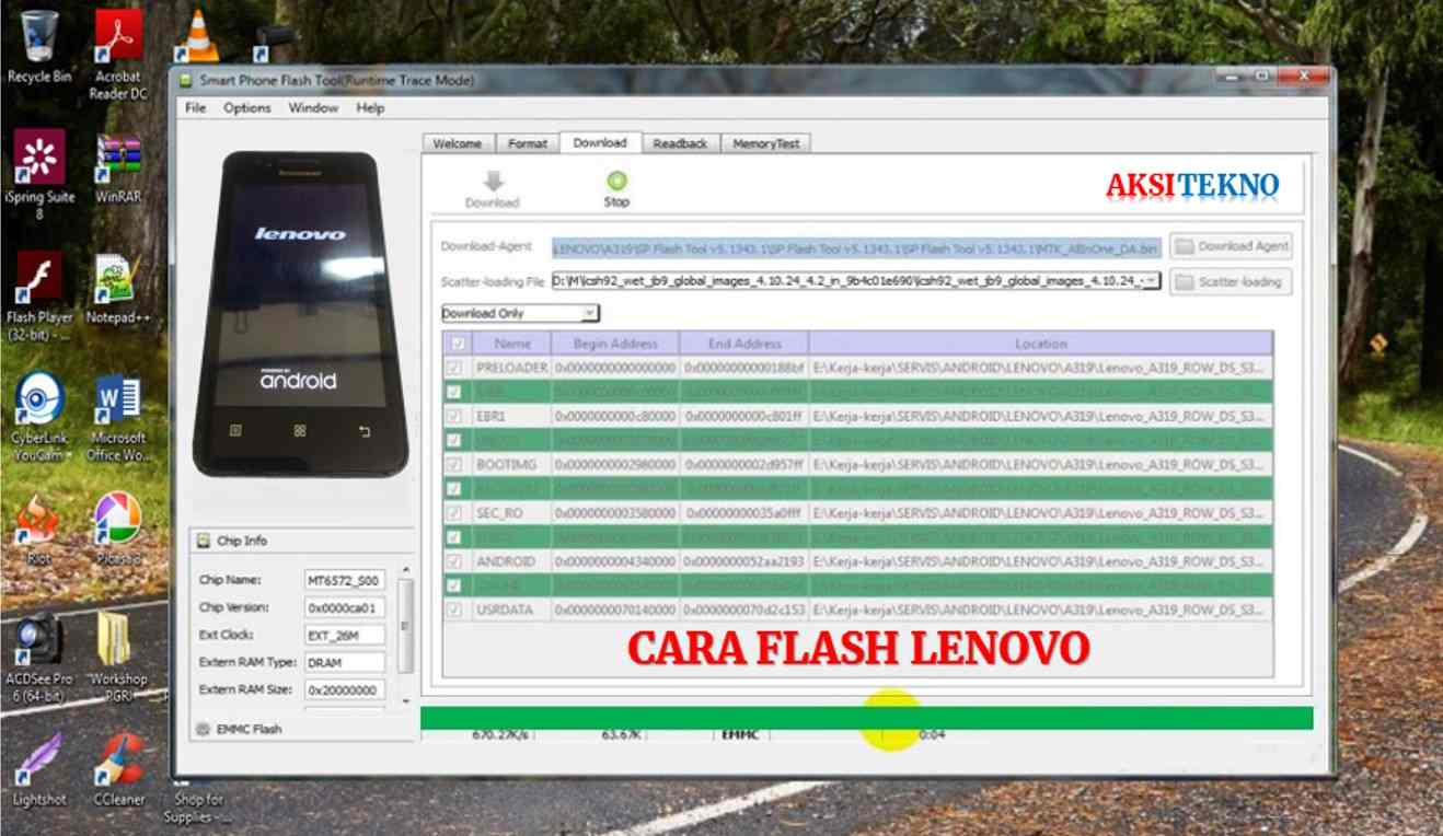 Cara Flash Lenovo a319
