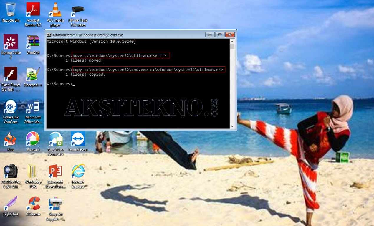 Cara Reset Password Windows 10 CMD